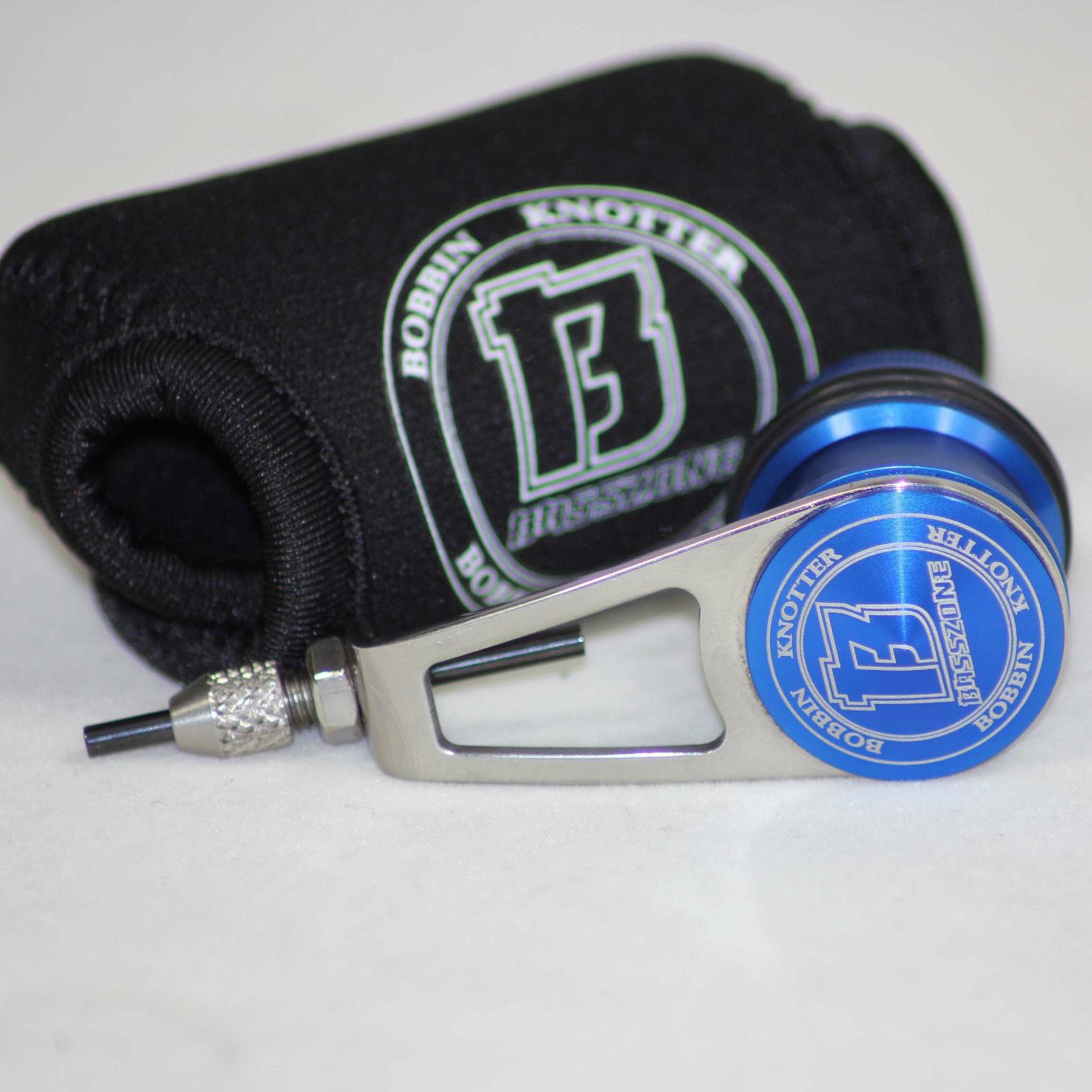 Basszone Bobbin PR Knotter Knot Machine Fishing PE Jigging Jigging PE Knot - (blu) 0703eb