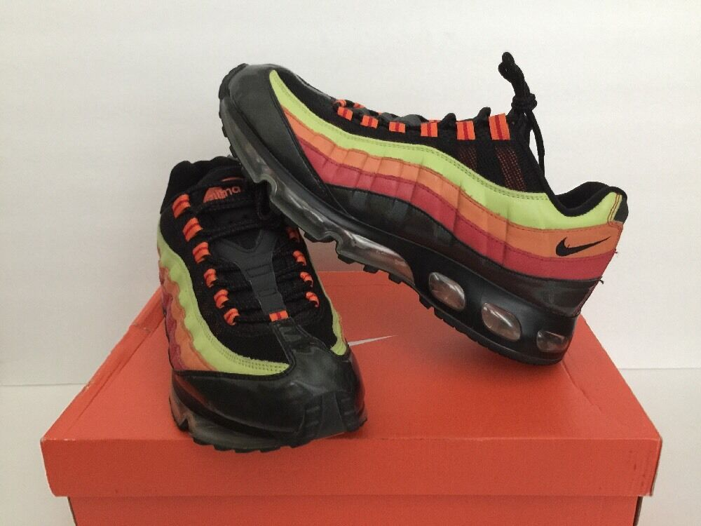 NIKE AIR MAX '95 360 BLACK ORANGE CACTUS ONE TIME ONLY MEN SZ 9.5