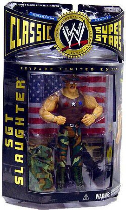 WWE Wrestling Classic Superstars All American Sgt Slaughter Action Figure