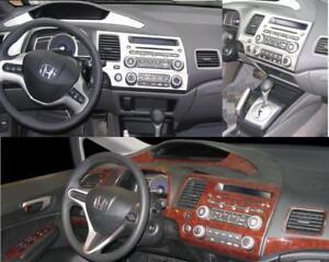 honda civic dx lx ex si interior dash trim kit set 2006 2007 2008