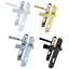 Manetas-de-Puertas-de-Upvc-92mm-Pz-122mm-Tornillos-Blanco-Oro-Cromo-D80-83 miniatura 1