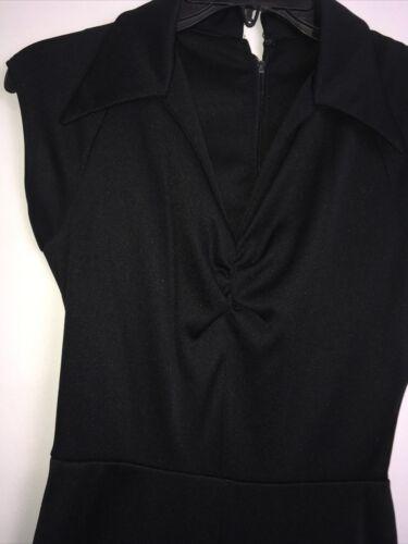 vintage black jumpsuit 1970's