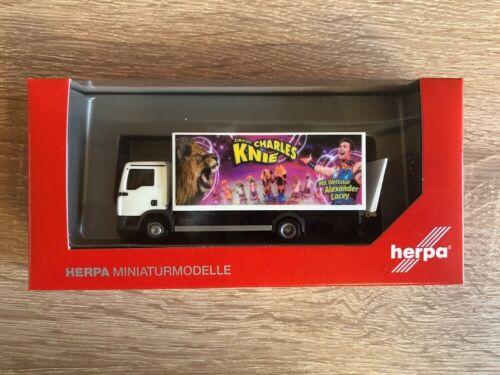 "Herpa 310161-1//87 MAN TGL VALIGIA-Camion /""Circo Charles ginocchio/"" NUOVO"
