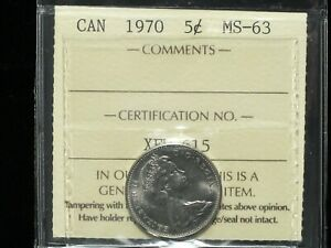 1970-Canadian-Five-Cent-ICCS-Graded-MS-63