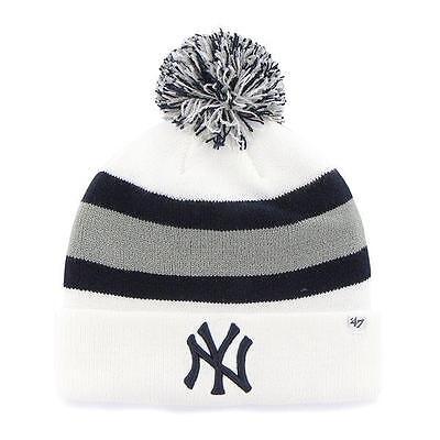 Weitere Ballsportarten Flight Tracker Mlb Wintermütze/wollmütze New York Yankees Ny White Cuffed Knit Hat Pommel StäRkung Von Sehnen Und Knochen