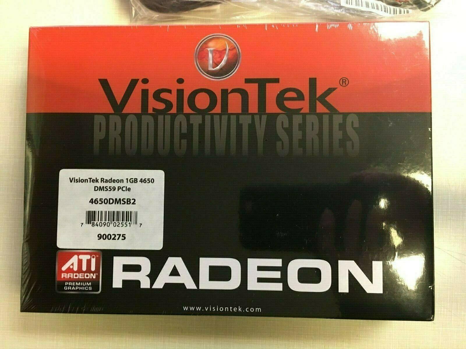 (New Box/Sealed) VisionTek Radeon 1GB 4650 DMS59 PCIe (dual video card) 900275
