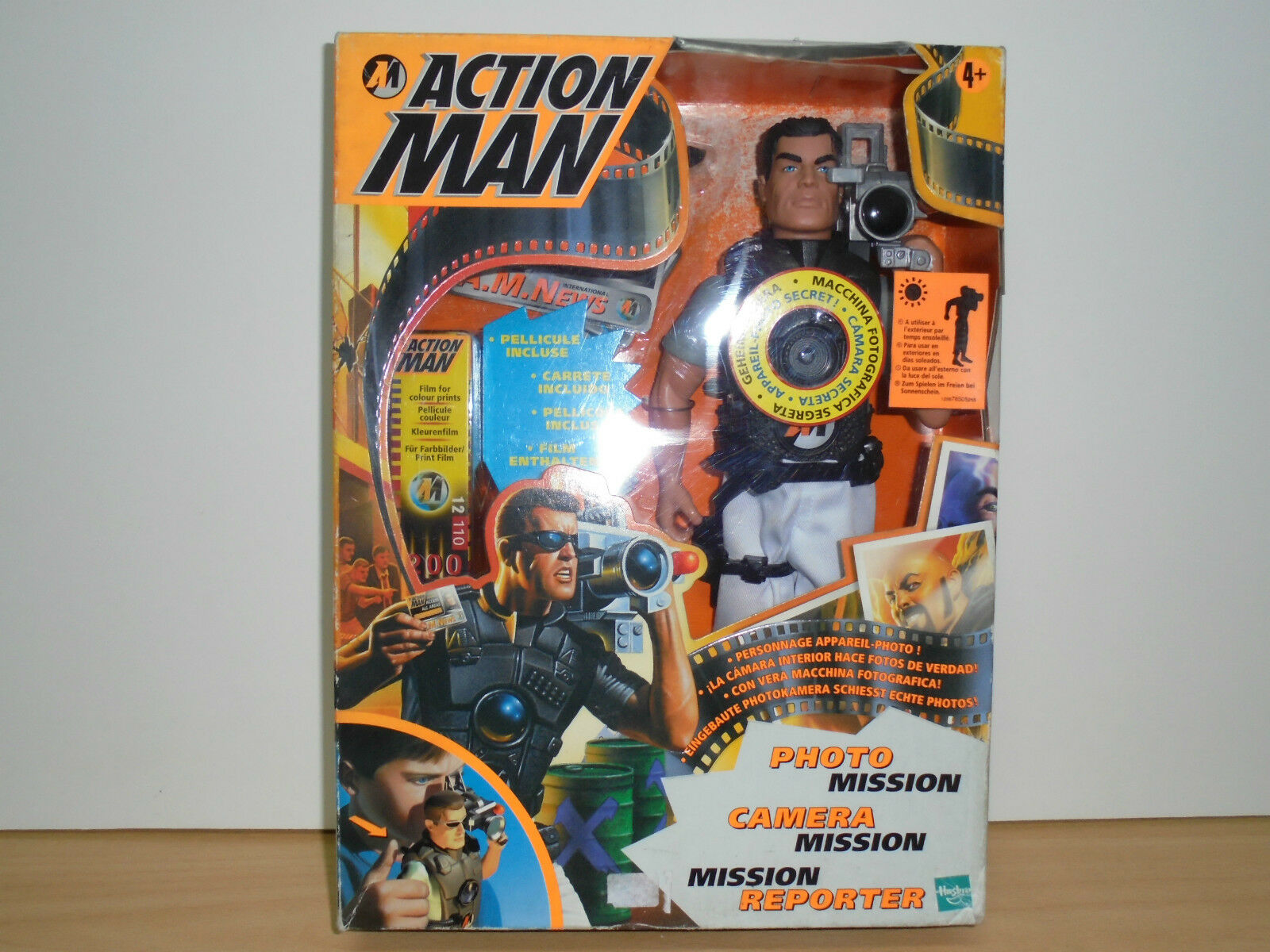 ACTION MAN MISSION REPORTER Hasbro 1998  EUROPEAN VERSION  New in BOX MIB