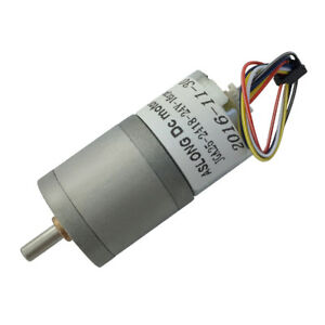JGA25-2418 12V 24V Speed Reduction Adjustable Brushless Gear Motor with Gearbox