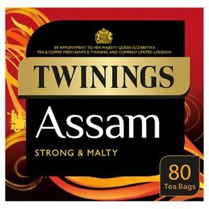 Twinings Assam 80 Sachets De Thé 200 G-vendu Dans Le Monde Du Royaume-uni-afficher Le Titre D'origine
