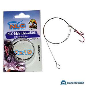 Raubfischsystem Nlc 1x19 Stahlvorfach Mit Ryder-doppelhaken Raubfischvorfach Neu Exquisite Handwerkskunst; Sport