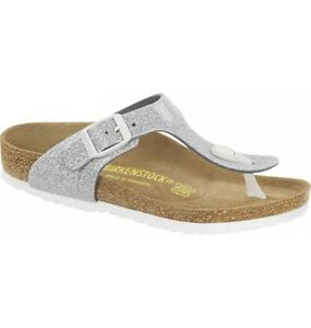 c013ab4a5c4 Image is loading CLEARANCE-Birkenstock-BF-Gizeh-129rrp-Magic-Galaxy-Silver-