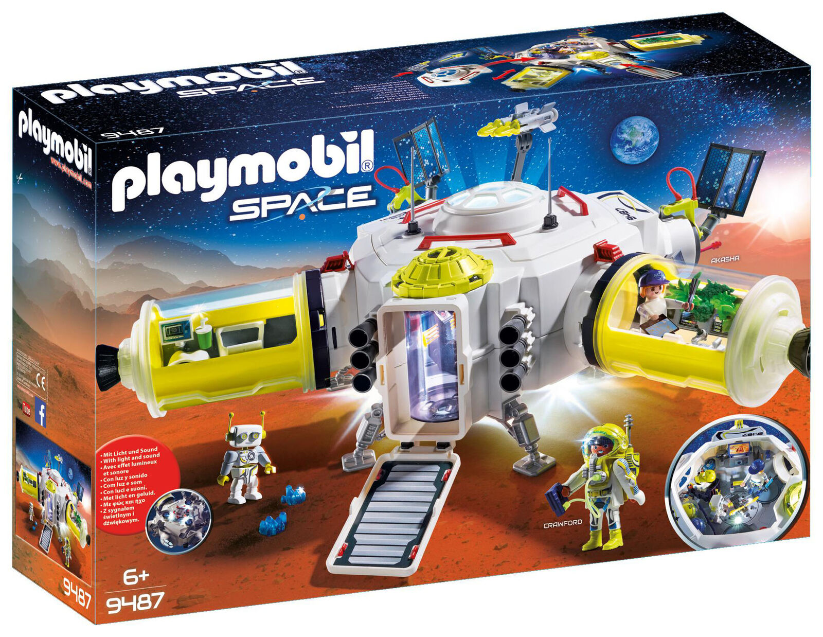 9487 Playmobil Mars Space Station with Functioning Double Laser Shooter Age 6yr+