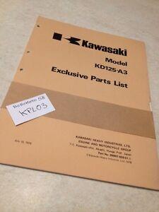 Kawasaki-piezas-list-KD125-A3-piezas-list-lista-piezas-adosadas-ed-76-original
