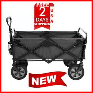 MAC-Sports-Wagon-Picnic-Tray-Table-Bonus-Folding-Beach-Cart-Garden-utility-col