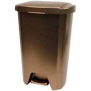 plastic trash can garbage waste bin kitchen basket 13 gallon step on container ebay. Black Bedroom Furniture Sets. Home Design Ideas