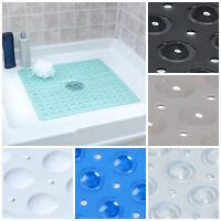 Large Non Slip Shower Mat With Drain Holes: Slipx Solutions Square Shower Mat