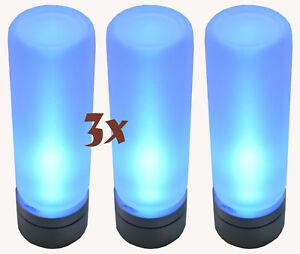 3x-LED-LENSER-7782-Teelichter-Candle-in-the-Wind-Kerzen-Nacht-Licht-Leuchte-blau