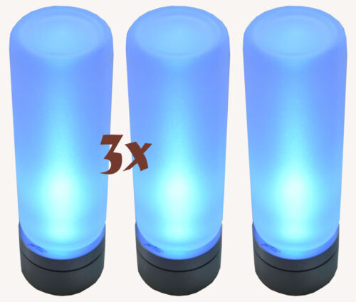 3x LED LENSER 7782 Teelichter Candle in the Wind Kerzen Nacht Licht Leuchte blau