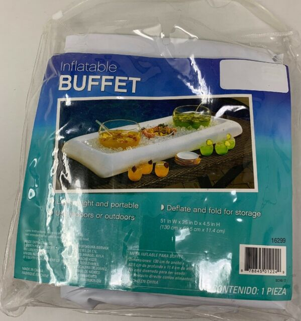 """Inflatable Buffet Cooler Tray For Parties Food Drink Ice Cooler 52"""" x 28"""" Inch"""