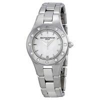 Baume & Mercier A10071 Linea Analog Display Swiss Quartz Women's Watch (Silver)