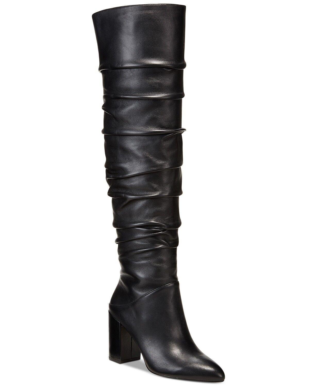Inc International Concepts tabithaa sobre la rodilla botas Negro Negro Negro Talla 7 Nuevo con etiquetas  la mejor selección de