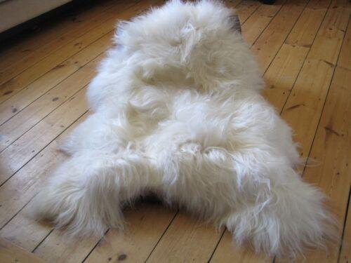Véritable tapis en peau de mouton islandaise XL 110 cm 15 cm cheveux!