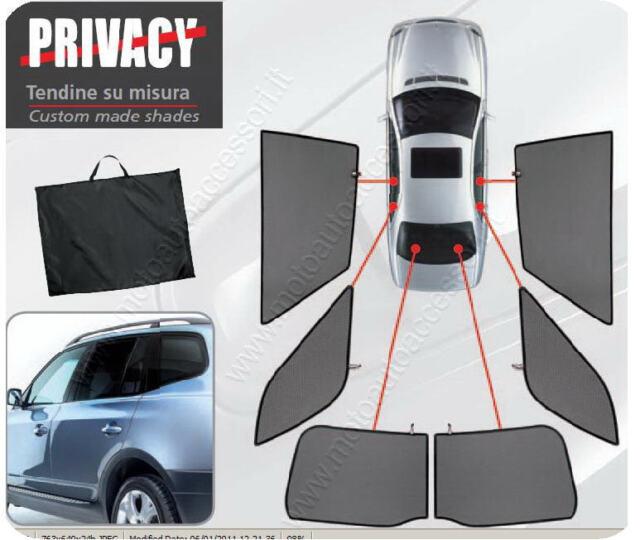 TENDINE AUTO PRIVACY SU MISURA PER NISSAN MICRA 5 porte da 1/2003 a 10/2010