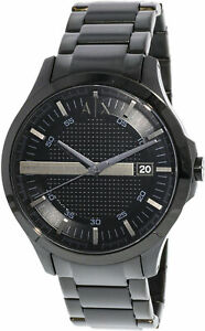 Armani-Exchange-Men-039-s-AX2104-Black-Stainless-Steel-Japanese-Quartz-Dress-Watch