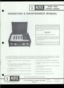 original factory altec lansing 1200a control console owner s rh ebay com  altec lansing acs495 owners manual