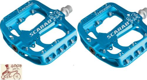 """CHROMAG SCARAB BLUE 9//16/"""" BICYCLE CRANK PEDALS"""