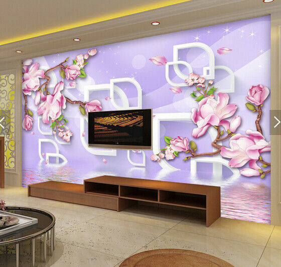 3D Flowers Pattern 68 Wall Paper Wall Print Decal Deco Indoor Wall Mural CA