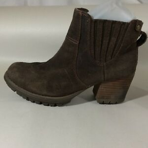 CAT Caterpillar Womens 6.5 Med Brown Suede Leather Chelsea Ankle ... 7a61b92e3