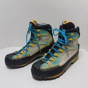 La Sportiva Trango TRK Cube GTX Women's Hiking Boots Size 8 Blue Yellow