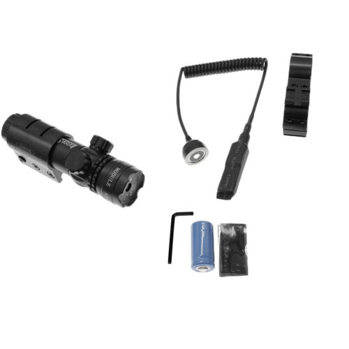 Tactical 532nm Green Laser Dot Scope Sight Remote Switch 2 Mounts US Stock