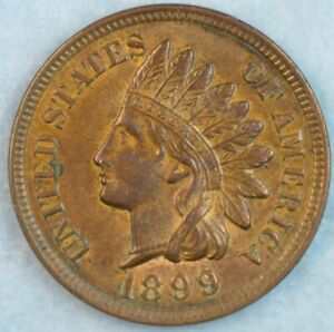 1899-Indian-Head-Cent-Vintage-Penny-Old-US-Coin-Liberty-Full-Rims-Fast-S-amp-H-78369