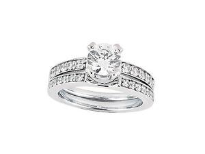 Natural-1-25ct-Ct-Anillo-de-Compromiso-Diamante-Corte-Princesa-Set-Solido