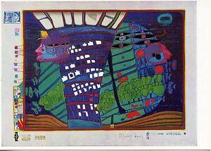 Cp / Postcard / Friedensreich Hundertwasser / Arts Viva Mappe Regentag 4ostcypo-08001413-875406714