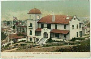 Postcard Ventura CA Elizabeth Bard Hospital Street View 1900's Undivided Back