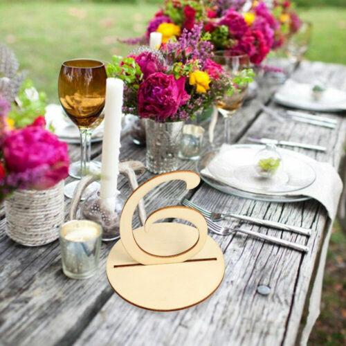 1-20 Holztisch Zahlen Set Basis Halter Geburtstag Party Hochzeit Tisch Dekor new