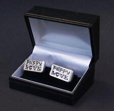 Gemelli Puppy Love Regalo Unico in scatola Peltro Gemello Matrimonio DOG GRATIS UK