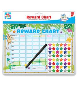 Riutilizzabile-comportamento-Reward-Chart-Compresi-Gratis-Adesivi-E-Penna-ANIMALE