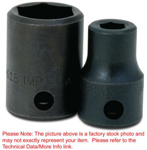 "7//8/""6Pt Impact Shallow 3//8/""Drive Supertorque Black Industrial USA Socket 2-628"