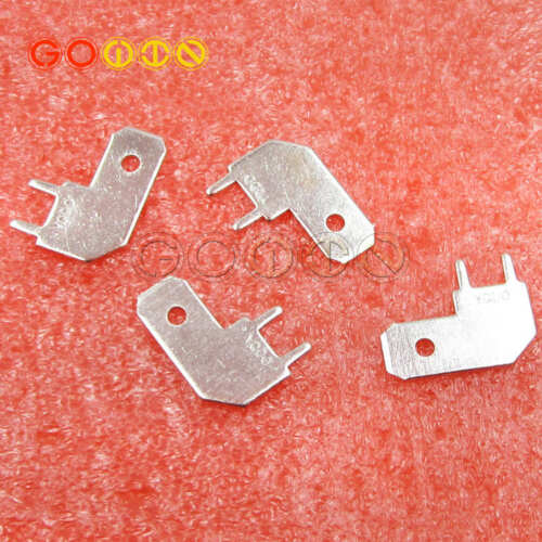 50PCS 6.3 Inserts Spring Terminal  L type Corner thickness 0.8 PCB welding sheet