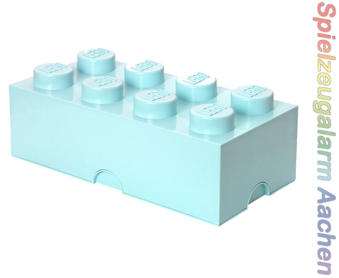 LEGO Storage Brick 8 Aqua Pietra 2x4 Conservazione Scatola Box Scatola 8 Knobs