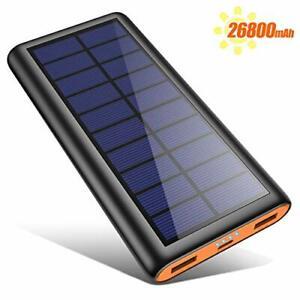 Kilponen Solar Power Bank Cargador portátil 26800mAh, alta capacidad de...