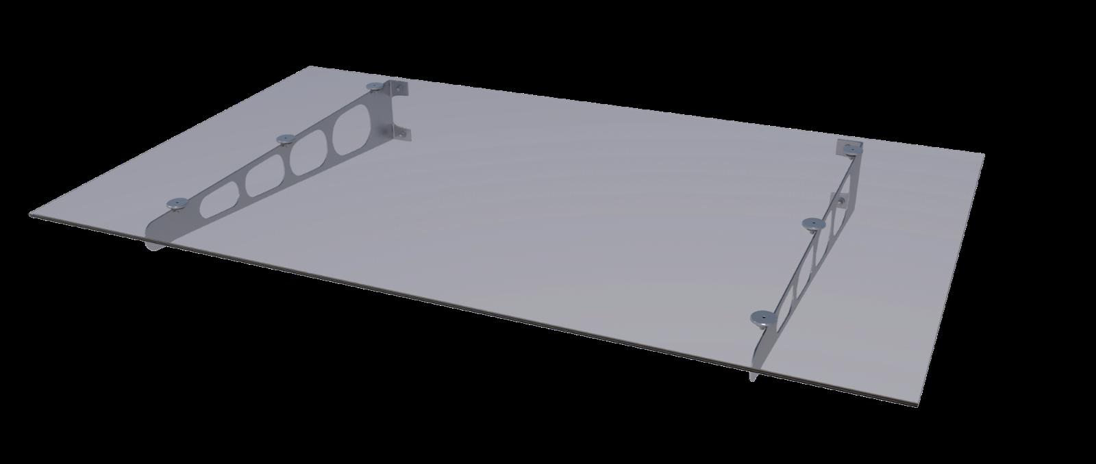 GUTTA Vordach Pultvordach HD/LT Edelstahl Größe 140 x 90, VSG VSG VSG klar 8 mm Blende 504d8d