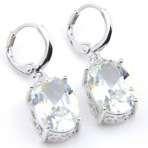 New-Arrival-Unique-Platinum-Plated-Oval-White-Cubic-Zirconia-Gems-Hook-Earrings