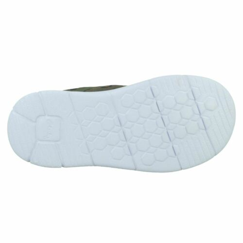 Childrens Clarks Ath Flux T Hook /& Loop Strap Casual First Trainers F,G Fittings