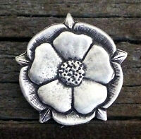 Tudor Rose Pewter Pin