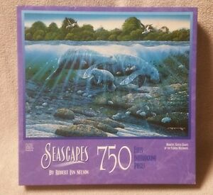 seascapes robert nelson 750 pc jigsaw puzzle manatee gentle giants